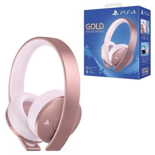Auricular Gold Wireless Ps4 Headset Rose Gold Edition