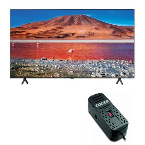 "[INN03248] Combo Pantalla 43"" Samsung Smart TV UN43TU7000PXPA + Adaptador de Corriente Forza Power FVR-2201"