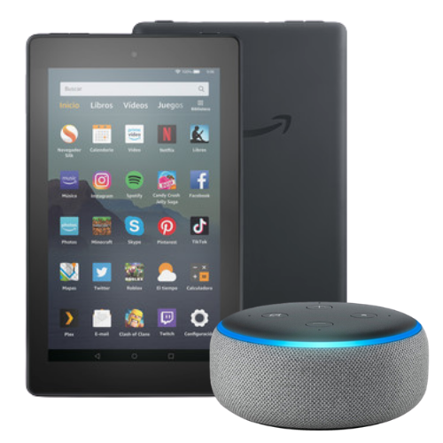 [INN01380] COMBO TABLET FIRE 7 AMAZON + ALTAVOZ INTELIGENTE AMAZON ECHO DOT